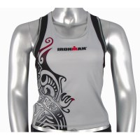Ironman Womens Tri Top - Silver/Black