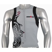 Ironman Mens Tri Top - Silver/Black